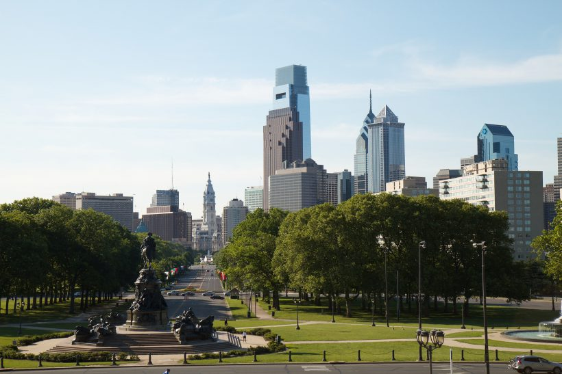 """Philadelphia Skyline"" photo by Rob Shenk (some rights reserved)"
