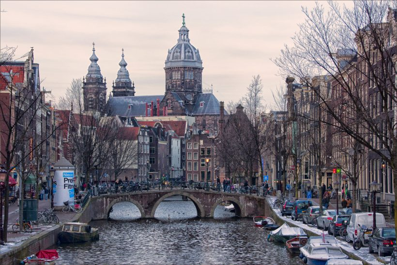 """""""Amsterdam sunset"""" photo by Bert Kaufmann (some rights reserved)"""