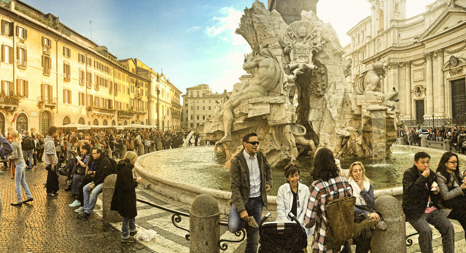 """Piazza Navona"" photo by Nick Kenrick (some rights reserved)"