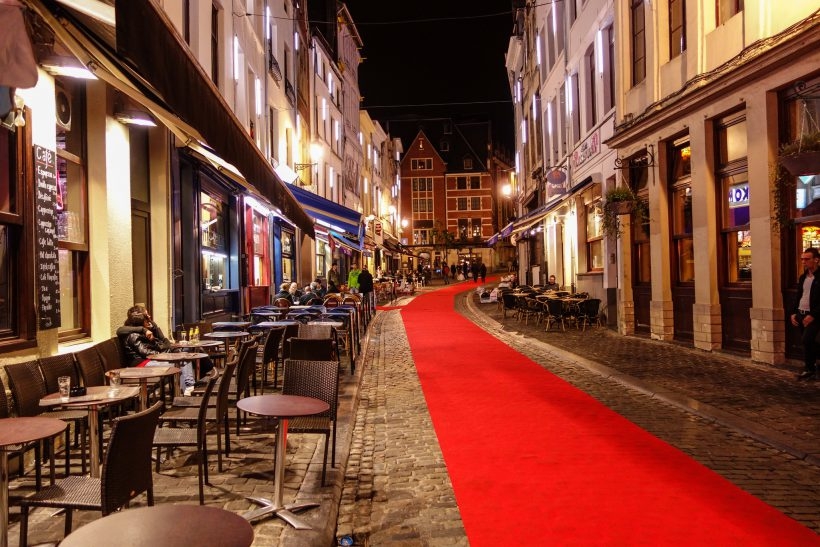 """Red Carpet in the Street in Brussels"" photo by Nan Palmero"