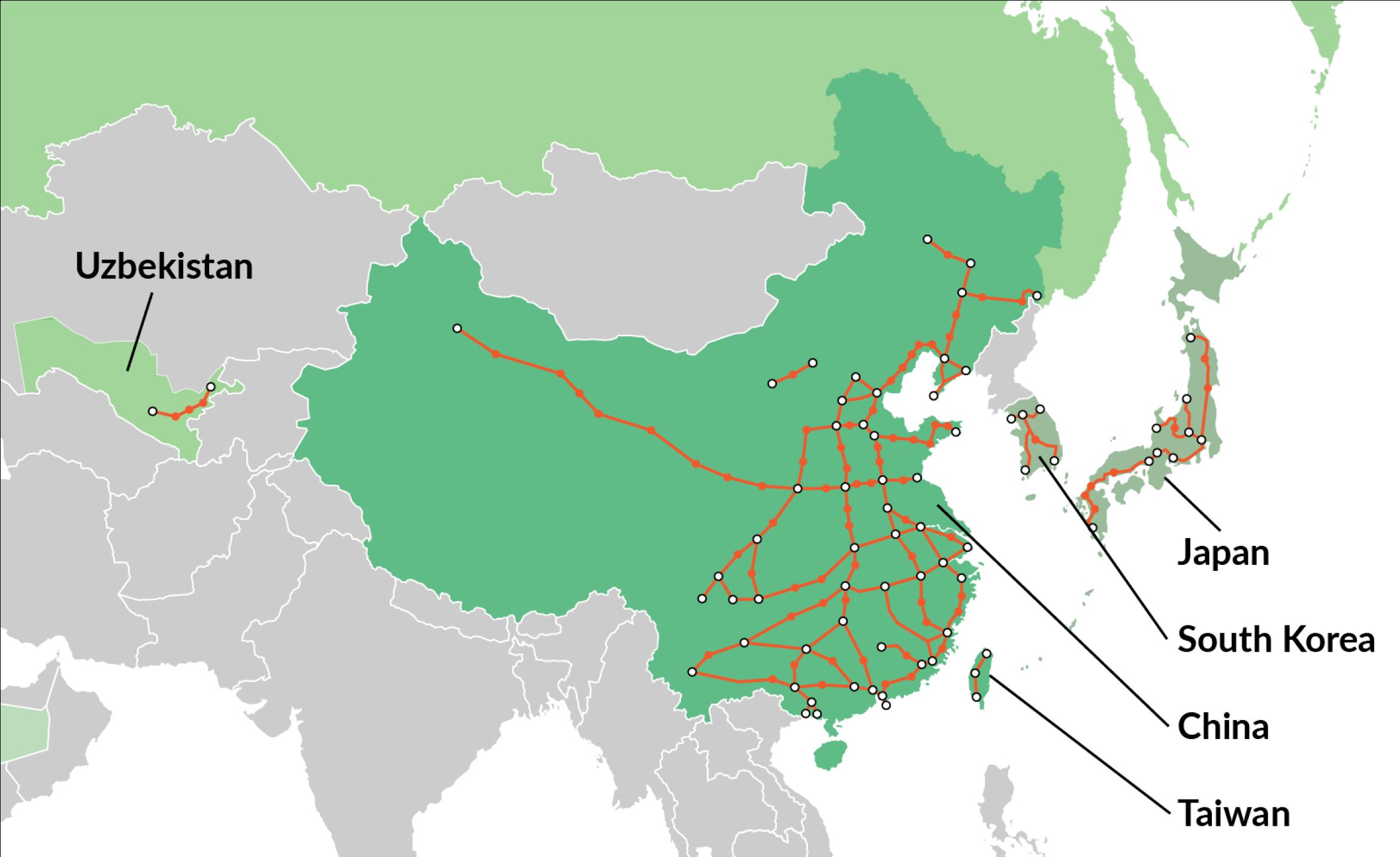 High-speed rail in Asia