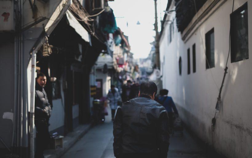 Street scene in Hangzhou by Anton Shuvalov