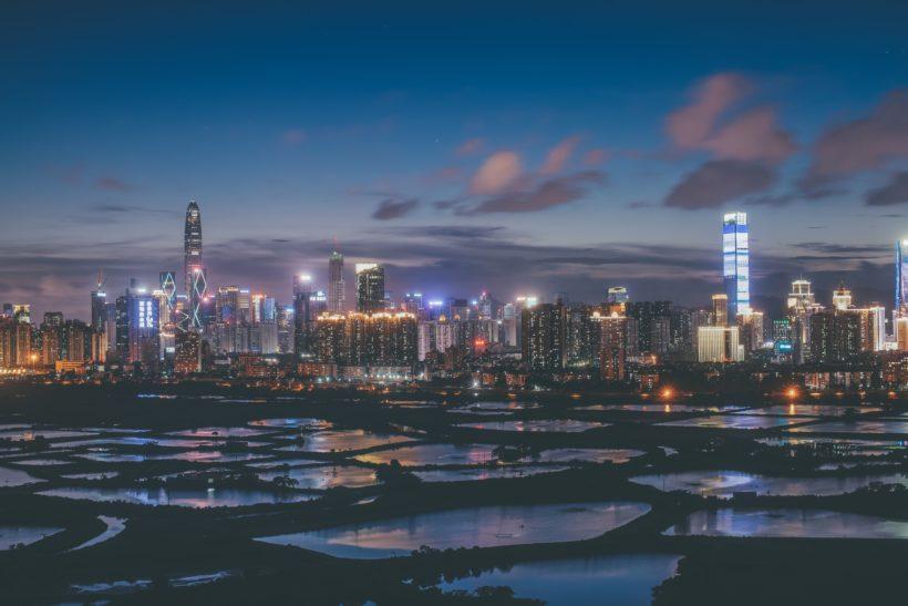 Shenzhen skyline by Joseph Chan